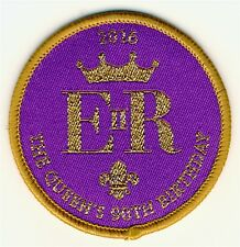 Scouts Queen's 90th Birthday Woven Uniform Badge
