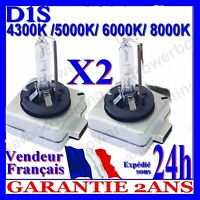 2 AMPOULES D1S 35W 12V LAMPES DE RECHANGE REMPLACEMENT FEU XENON KIT HID 8000K
