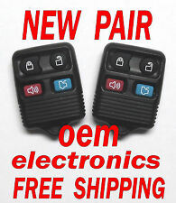 NEW PAIR 2002 2003 2004 2005 FORD EXPLORER 4B KEYLESS REMOTE ENTRY FOB 5925872