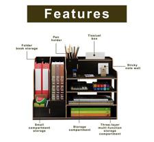 Desk Organizers Storage Wooden Desktop Organizers Office Paper File Pen Holder