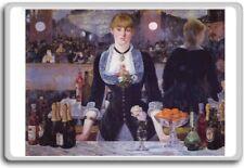 Manet - A Bar At The Folies Bergère (1882) classic art fridge magnet