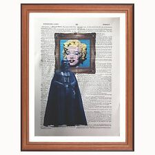 Darth Vader vs Andy Warhol-Diccionario Impresión de Arte Pop Art Marilyn Libro De Star Wars