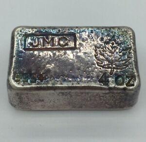 Vintage 1960s Johnson Matthey 4 oz .999 Silver Bar Poured
