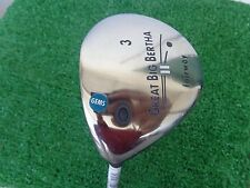 Left Hand Gem Callaway Golf Great Big Bertha II 3 Wood 15 Graphite Ladies Shaft