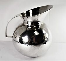 AM of Peru .900 Silver Pitcher - Very Large and Tall 8 1/2 - Monogram (L1)