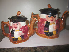 Lot 2 England Teapot Toby Genuine Staffordshire Double Face Shorter & Son Ltd