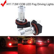 2x H11 H8 H9 7.5W Power Red LED Bulbs For Car Driving Fog Light Lamps For Honda