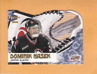 2000 01 MCDONALDS PACIFIC GLOVE SIDE NET FUSIONS #1 DOMINIK HASEK BUFFALO SABRES