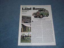 1964 Land Rover Dormobile Special Info Article