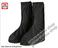 High-top Waterproof Men's Women's Rainboots Shoes Covers Overshoes Rain Gear