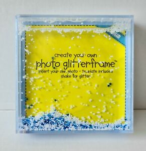 Shot2Go Create your Own Glass Glitter Baby Snow Frame Ideal Gift Idea