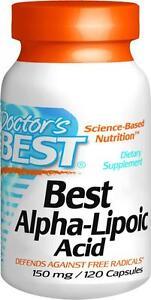Best Alpha-Lipoic Acid, 150 mg, 120 capsules, Doctor's Best