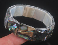 "Abalone Shell beads Bracelet 7"" L12180"