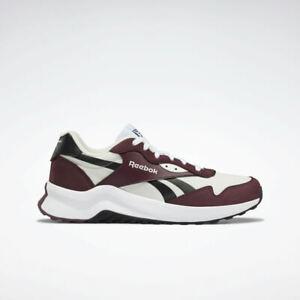 Reebok Heritance Men's Trainer Rubber Shoes White Burgundy Black Sneakers GV7312