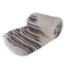 Sheepskin Sheep 100% Wool Throw Winter Blanket Ultra Soft Warm Cozy Woven Queen