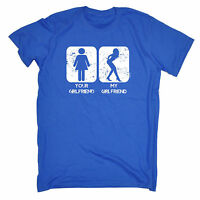 Your Girlfriend My Girlfriend MENS T-SHIRT birthday sarcastic rude funny gift