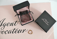 AGENT PROVOCATEUR GRAFFITI STACKER RING ROSE/GOLD SIZE MEDIUM BRAND NEW IN BOX