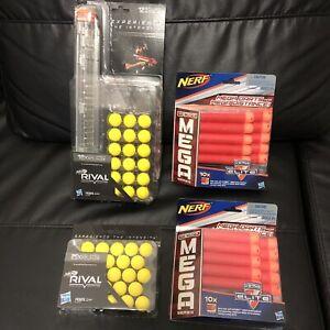 NEW NERF Rival Magazine & N-Strike Mega Darts For Toy Guns W/ Boxes