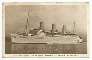 """Canadian Pacific Lines """"S.S.Empress Of Britain"""" Cruise Liner Postcard"""