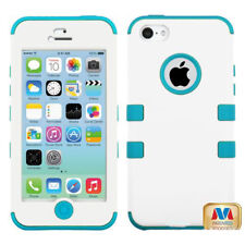 For Apple iPhone 5 IMPACT TUFF HYBRID Case Skin Phone Cover White Teal