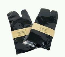 Tabi Flip Flop Toe Sandle Unisex casual black Socks  ~2 pairs~ Express Pro USA