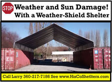 30' x 40' Cargo Shipping Container Cover - safe dry storage or covered work area