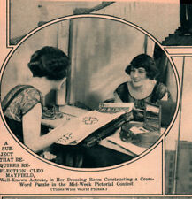 1925 A  PRINT PHOTO  ACTRESS CLEO MAYFIELD CROSSWORD PUZZLE