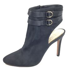 Jessica Simpson Daxton Womens Size 11 M Black Leather Heel Ankle Boots.