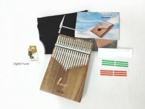 Haze 01A Solid Acacia Kalimba MBIRA Thumb Piano,17-Key,Tutorial Manual, Hammer
