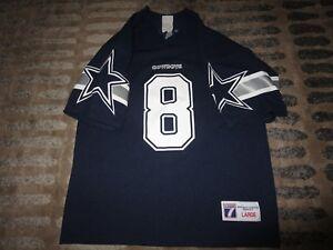 Troy Aikman #8 Dallas Cowboys Super Bowl NFL Jersey Youth L 14-16 children