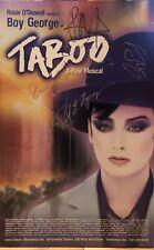 Boy George + Cast Signed TABOO Broadway Poster Windowcard Raul Esparza
