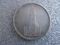 Germany 3rd Reich 5 Reichsmark Potsdam Garrison Church Nazi 1935 A .900 Silver