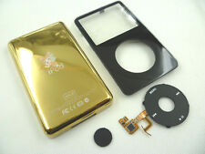 Black Faceplate Housing 80GB Golden Back Case Clickwheel for iPod 5th gen Video