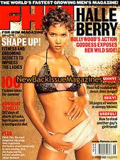 FHM 6/01,Halle Berry,Tricia Helfer,Jillian Barberie,Lokelani McMichael,June 2001