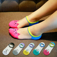5Pairs Fashion Womens Casual Cute Ankle High Low Cut Invisible Silk Cotton Socks