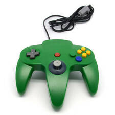 Nintendo 64 Green Controllers and Attachments