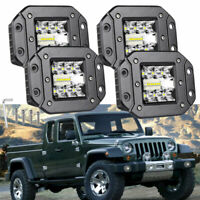 78W Car SUV 4X4 4WD Front/Rear Bumper LED Work Light Bar Mount Offroad Lamps