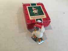 Hallmark Owl Ice Skaing 1985 Ornament Keepsake Christmas Collector Fabric Hat