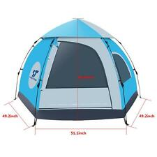 Blue Double layer Waterproof Camping Hiking Instant Tent for 3-4 Person