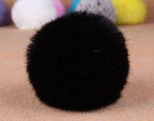 Car Keychain Key Ring Rabbit Fur Handbag Ball PomPom Pendant Charm Cell Phone