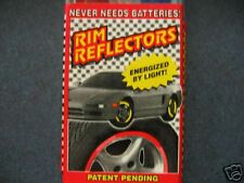 RIM REFLECTORS LIGHTS RED WHEEL ACESSORIES