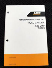 2006/07 CASE 845 DHP TIER 3 MOTOR GRADER OPERATORS MANUAL 173 PAGES VERY CLEAN