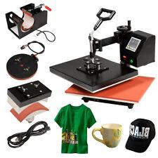 Pro 4 in 1 Heat Press Machine Digital Transfer Sublimation T-Shirt Mug Hat Cap