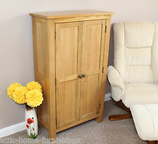 Oak Cupboard Filing Storage Cabinet Tall Buffet  DVD'S  Books Adjustable Shelves