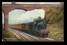 Railway GER Continental Express near Brentwood Essex vintage Oilette PPC