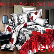 3D Print Marilyn Monroe Bed Set Sheet Duvet Cover Pillowcase Double Twice Size
