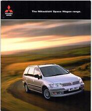 Mitsubishi Space Wagon 2002-03 UK Market Sales Brochure 2.0 Classic 2.4 Equippe