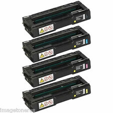 4-Pack Toner Set for Ricoh Aficio SP C240SF C220A C221N C240 C220 C220N 406046