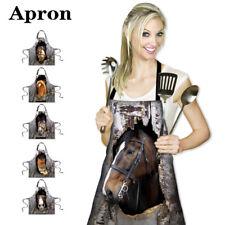 Apron Dress Horse Pattern Home Kitchen Anti-wear Cooking Baking Cleaning Women