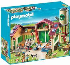 PLAYMOBIL 5119 grosser Bauernhof mit Silo Scheune Stall und viel Zubehör NEU&OVP